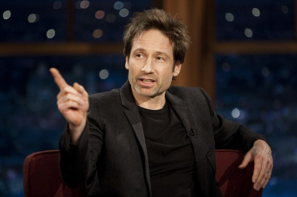 """David Duchovny-""""Late Late"""" Show with Craig Ferguson, at CBS Television City in Los Angeles, 01/12/2011"""
