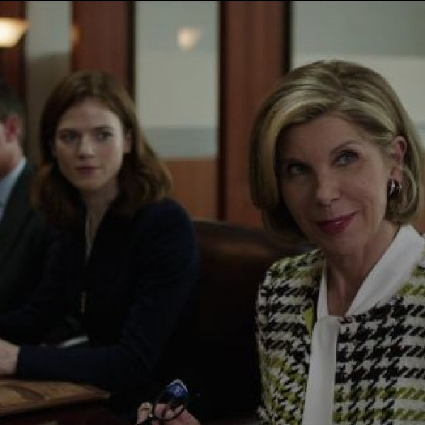"""The first episode of 'The Good Fight' is entitled """"Inauguration""""  and involves Lockhart's motivation to make a change."""