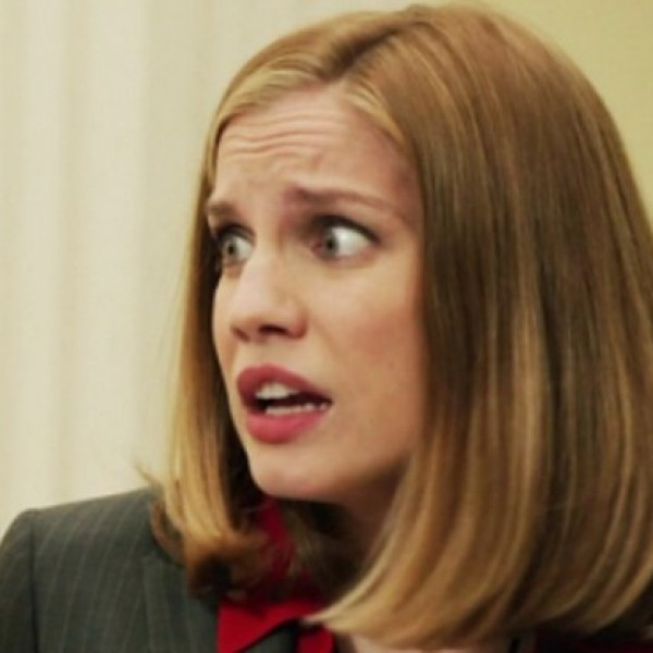 Chief of Staff Amy Brookheimer (played by Anna Chlumsky) adds comedy to 'Veep' through her many unique facial expressions.